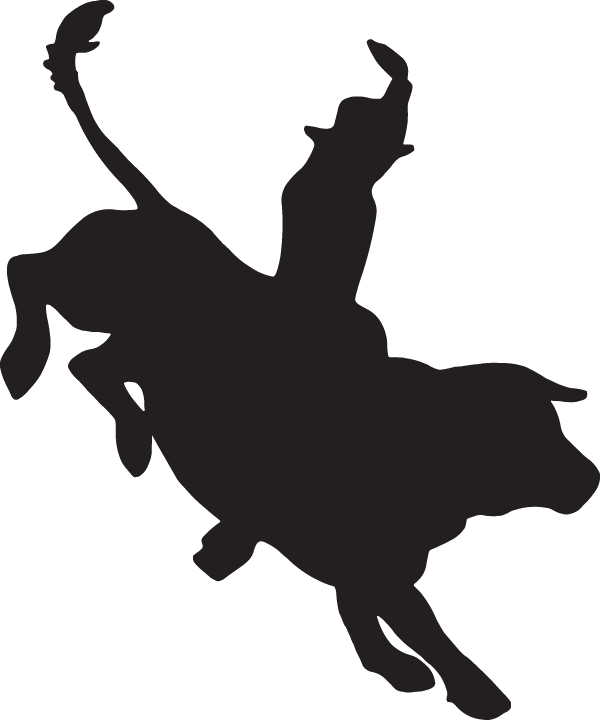 png library download Bucking Bull Silhouette at GetDrawings