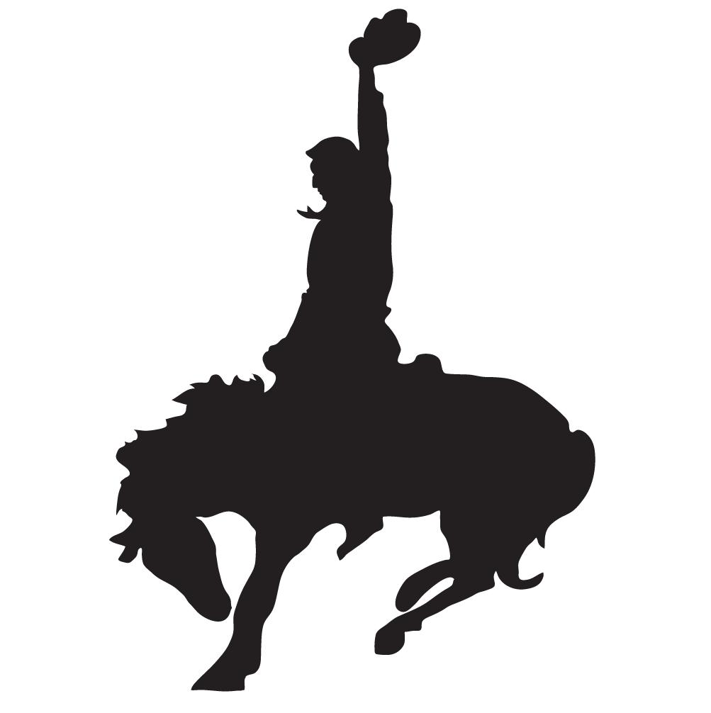 graphic black and white download Rodeo vector. Art portfolio custom screen.