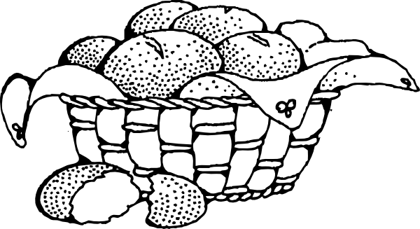 png freeuse library Basket Of Rolls Clip Art at Clker