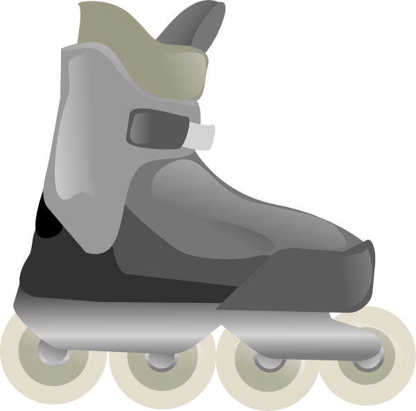 svg free library Roller Blades Clip Art at Clker