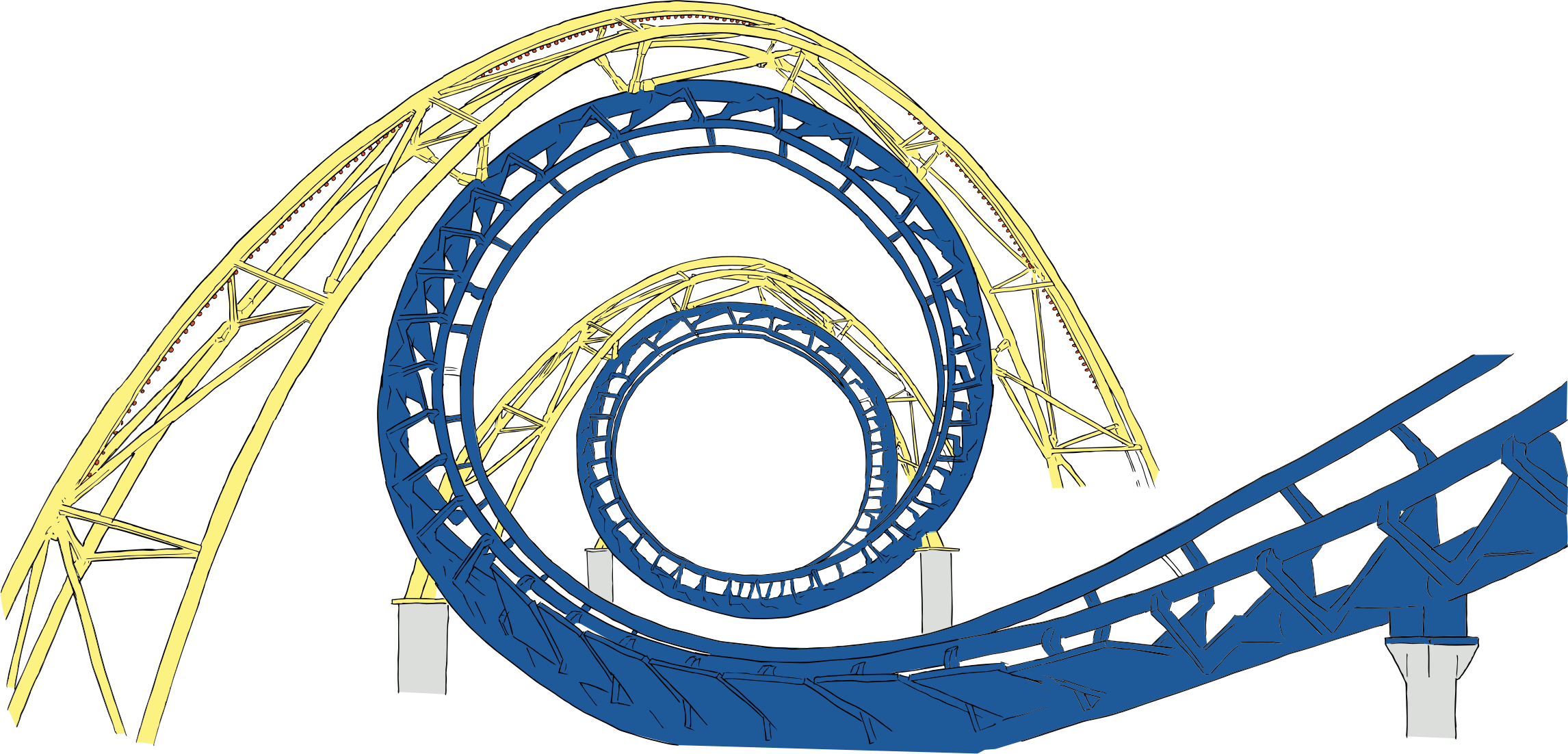 image free download Roller coaster tracks big. Rollercoaster clipart.