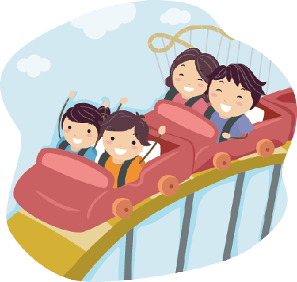 picture royalty free Roller coaster clipart. Family on the arts