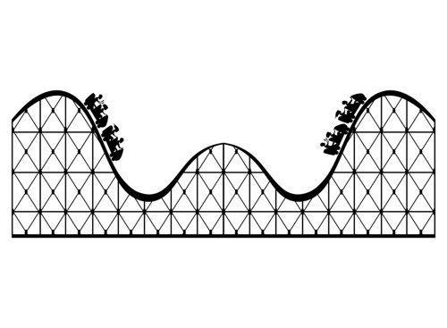 picture royalty free Roller coaster clipart. Georgiajanet clip art clipartix.