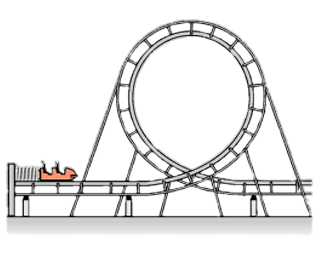 graphic royalty free download Rollercoaster Clipart transparent PNG