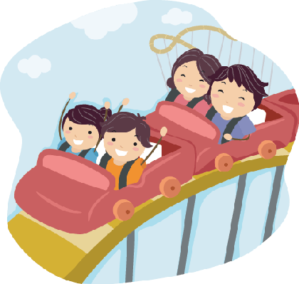 clipart royalty free download Family on Roller Coaster