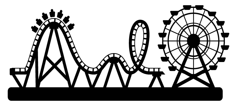 image freeuse download amusement park clipart black and white #58601792