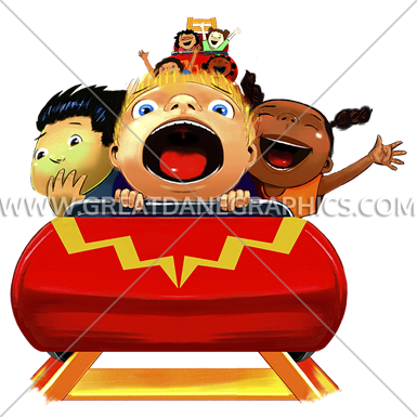graphic royalty free Production ready artwork for. Roller coaster clipart kids.
