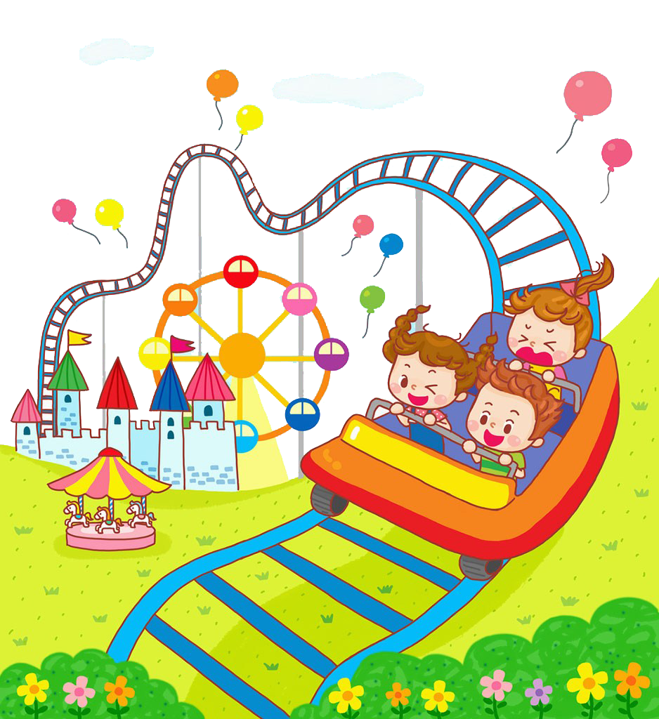 svg download Roller coaster clipart kids. Animation children play