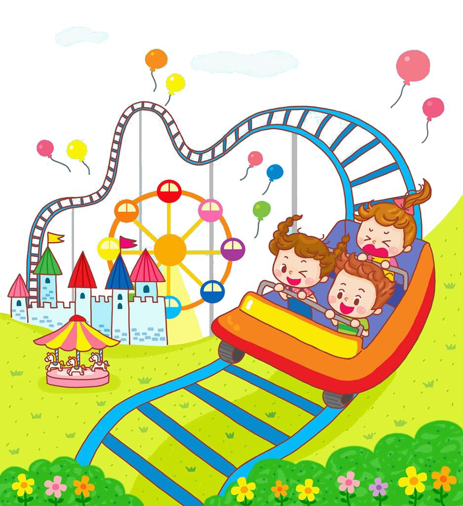 svg download Roller coaster clipart kids. Animation children play.