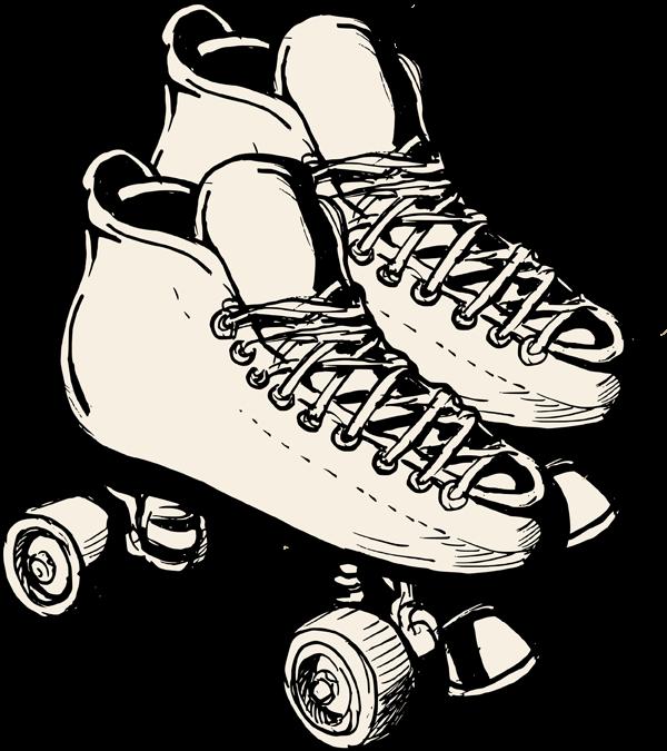 royalty free library Roller Skating Drawing at GetDrawings