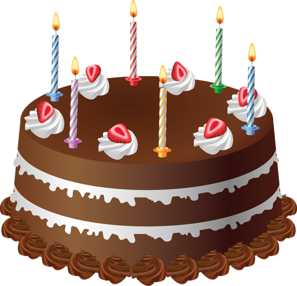 download Chocolate with candles art. Desserts clipart homemade cake.