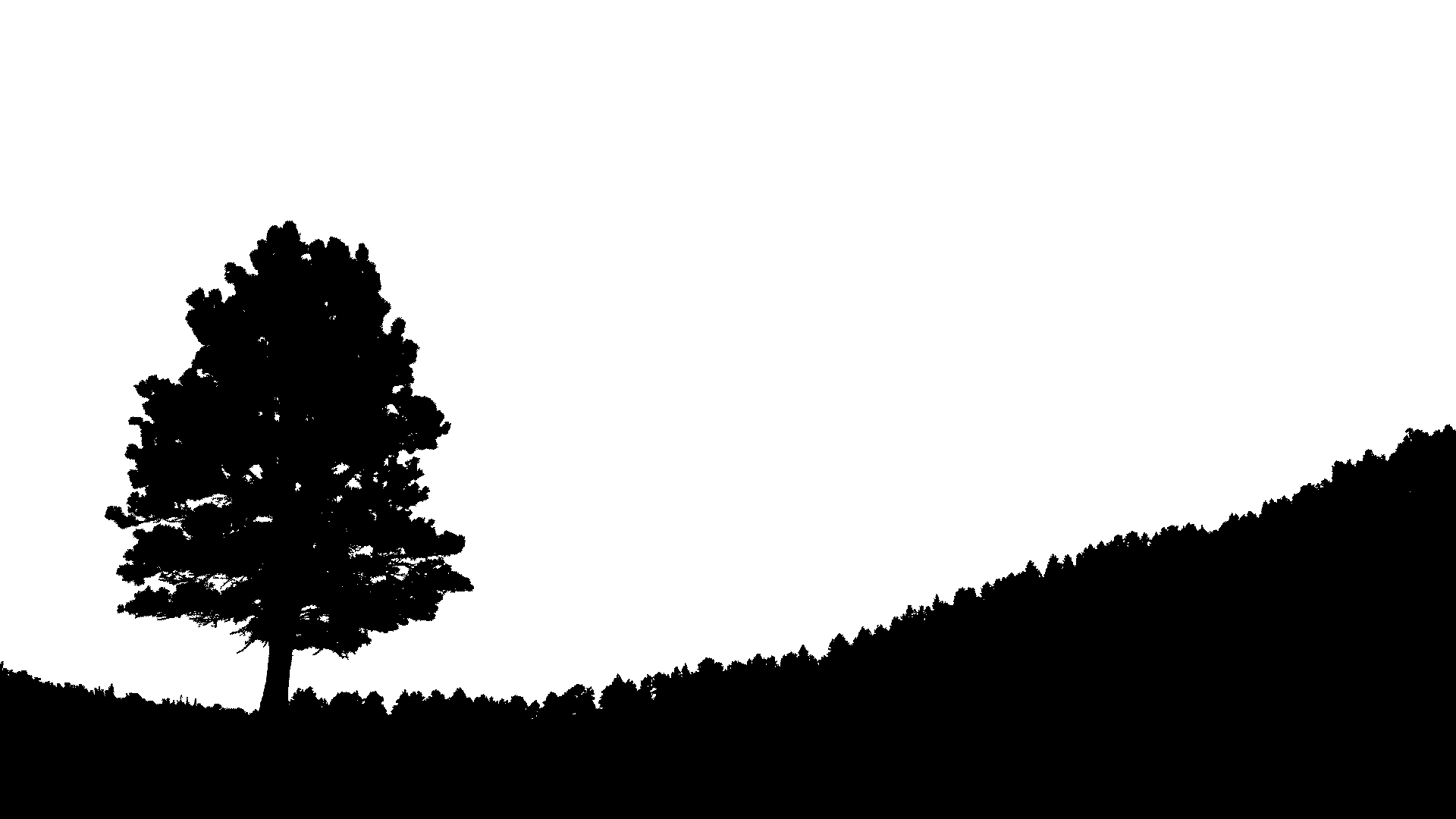 image freeuse library Hill silhouette at getdrawings. Rolling hills clipart black and white