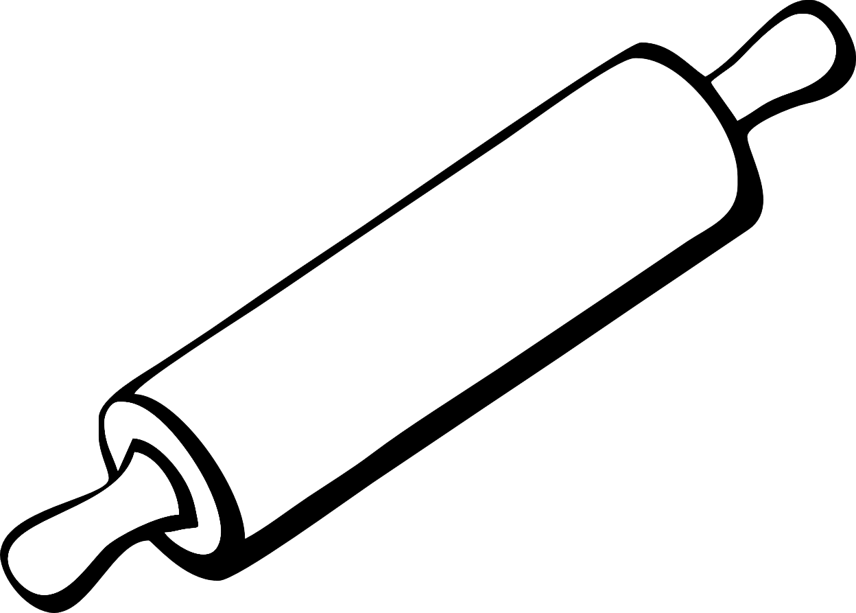 png freeuse Whisk clipart black and white. Rolling pin pencil in