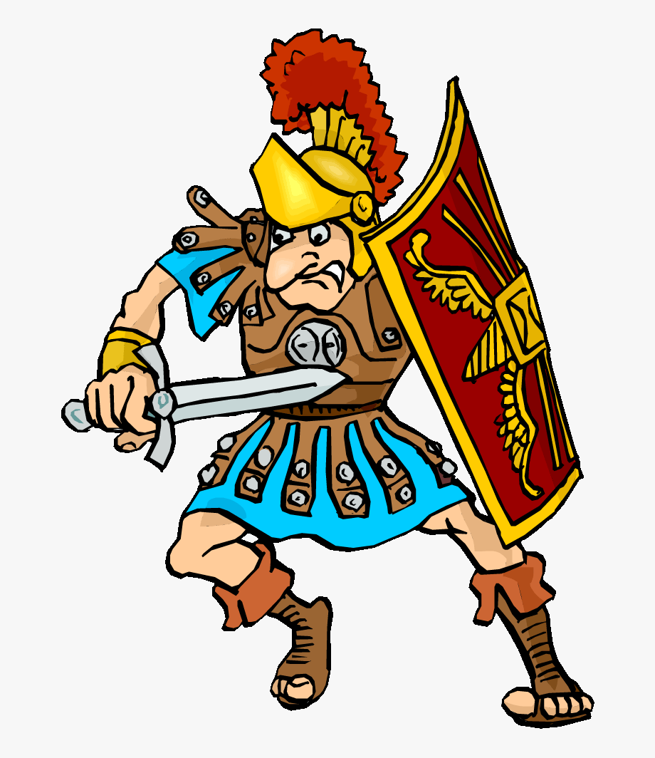 picture black and white library Warriors person ancient soldier. Roman army clipart