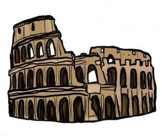 banner black and white library Colosseum PNG Images Transparent Free Download