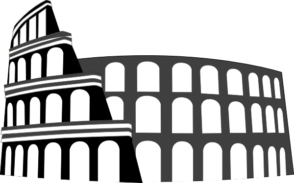 vector black and white download Colosseum Rome Simplified Clip Art at Clker