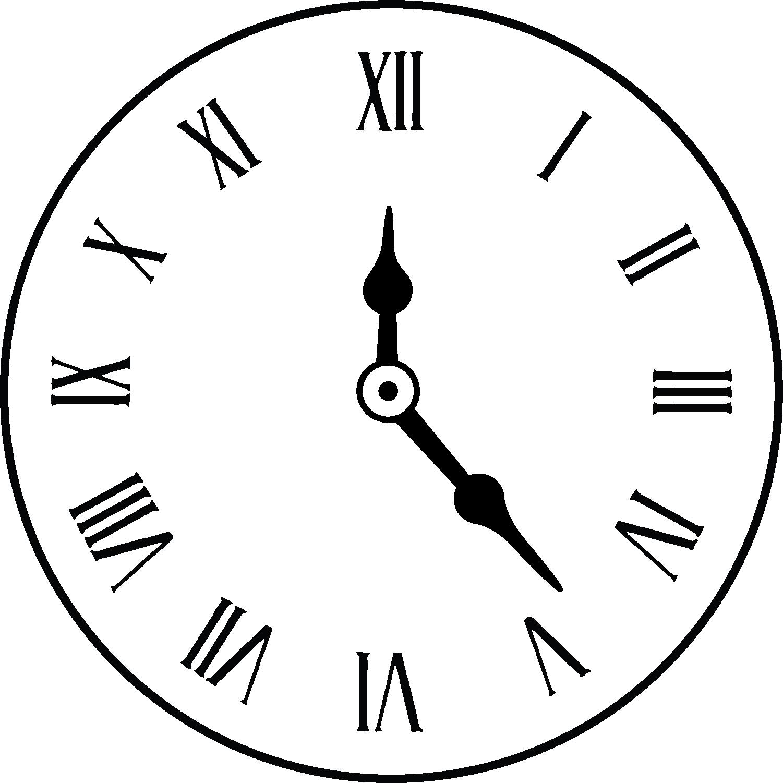 png free download Roman Numeral Clock Drawing at GetDrawings