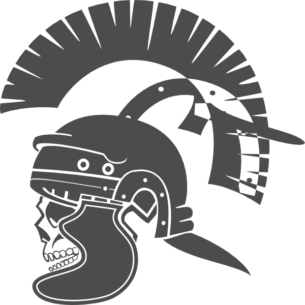 image free stock Gladiator skull clip art. Roman vector