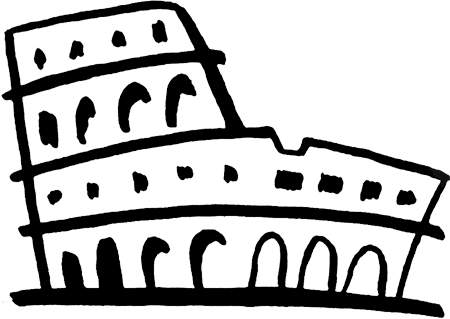 png black and white stock Rome clipart. All free original clip.