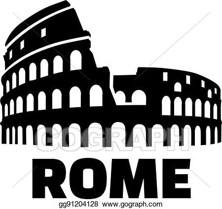picture transparent stock Vector colosseum german illustration. Rome clipart.