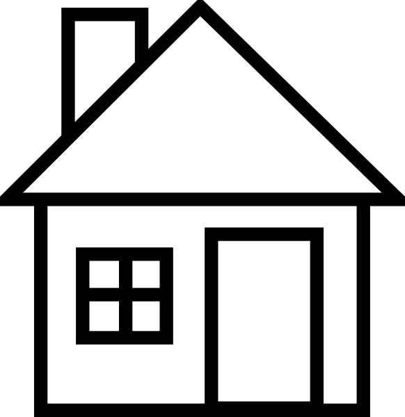 image free library Roof clipart black and white. Cartoon house collection clipartfest