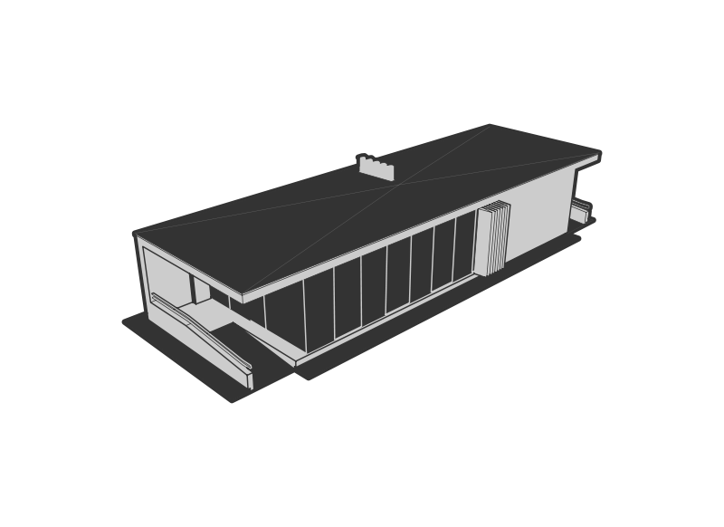picture Flat . Roof clipart black and white