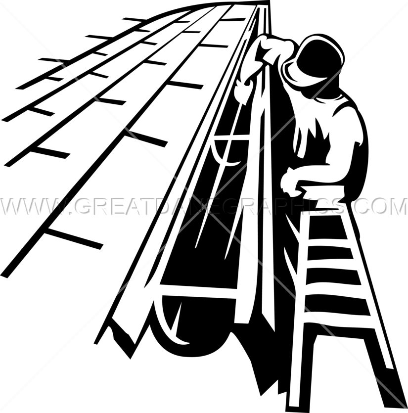 clip art freeuse Gutter cleaner production ready. Ladder clipart black and white.