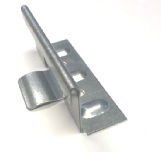 graphic black and white stock Snap lock standing seam. Roofing clip.