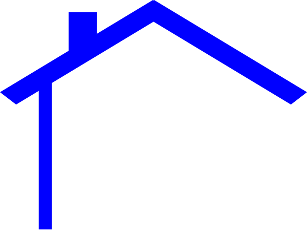 clip library library Image of house outline. Roofing clipart.