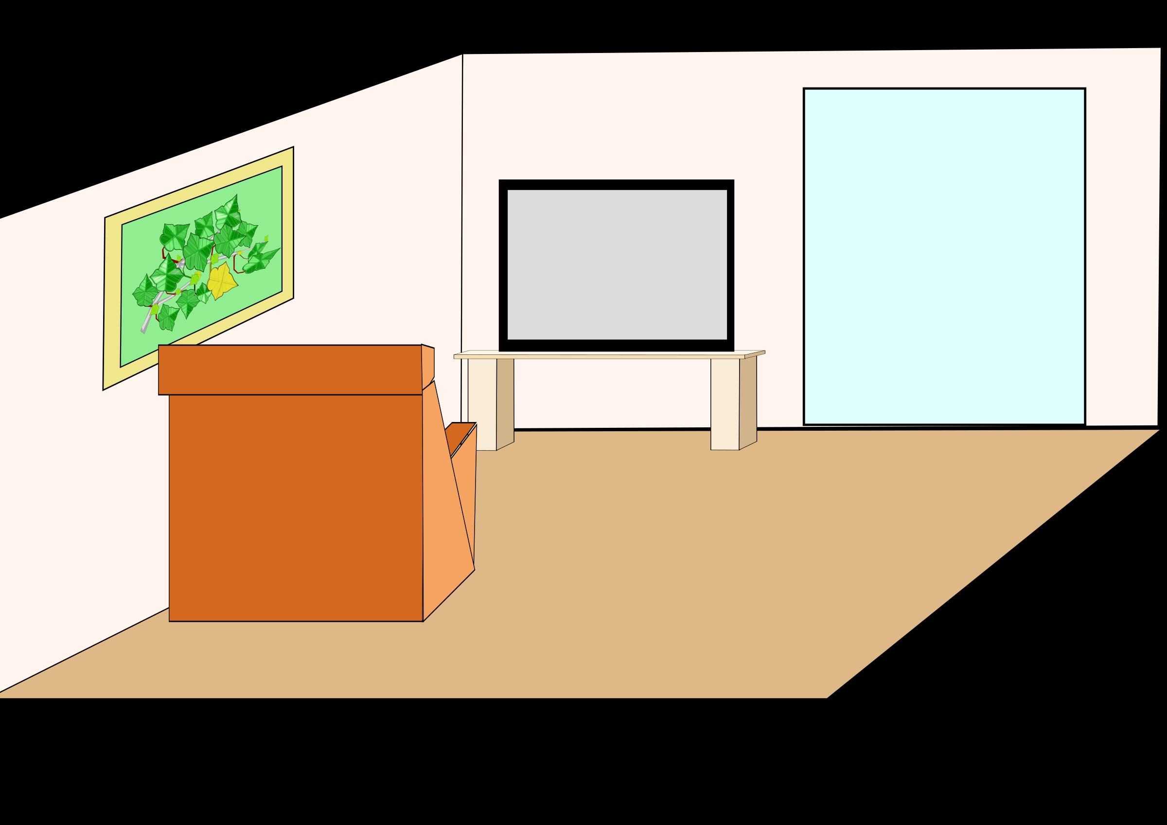 vector free Table living sala clip. Art room clipart.