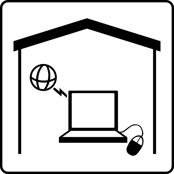 graphic freeuse Hotel icon has internet. Room clipart black and white