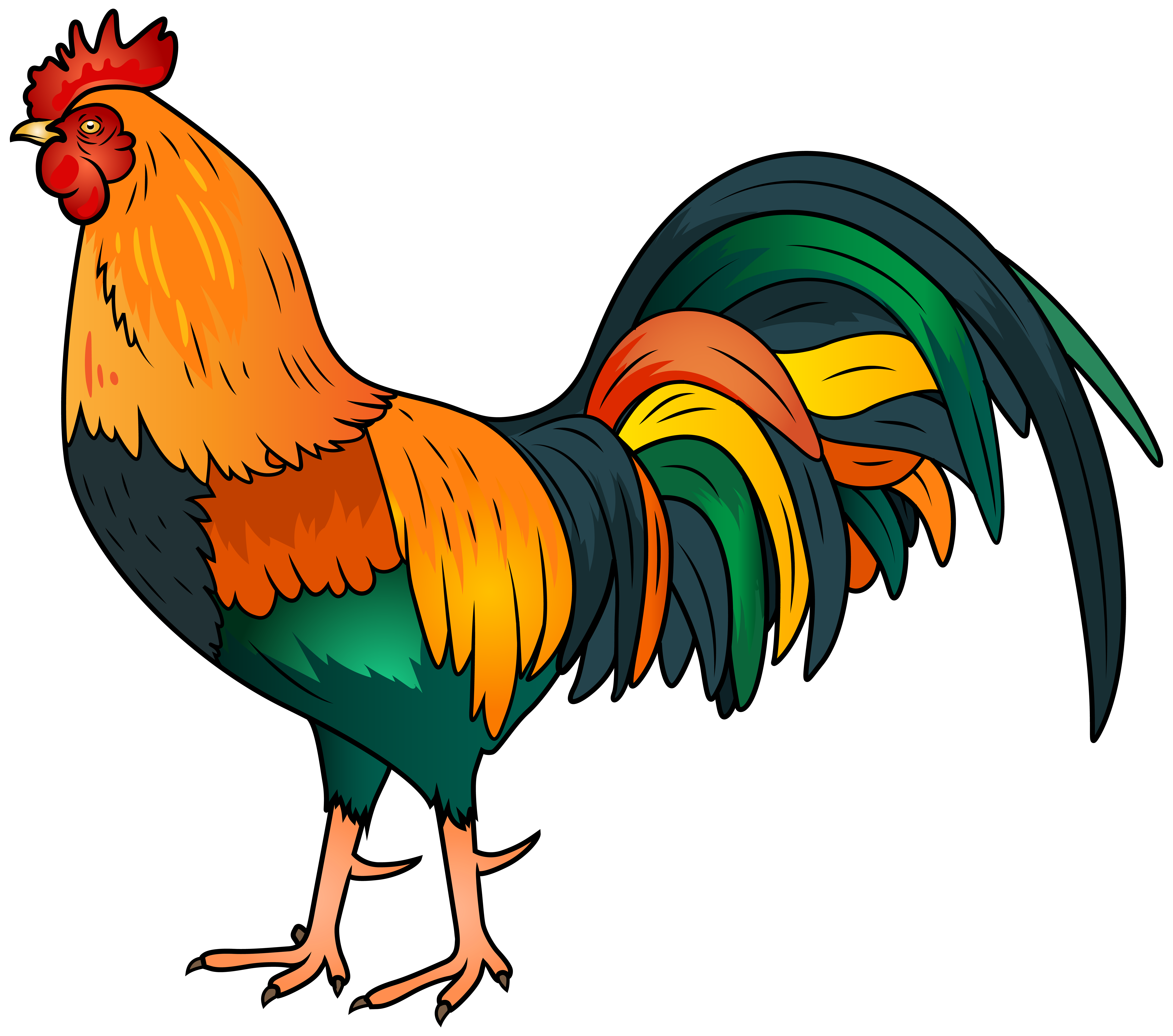 graphic royalty free library Rooster clipart. Png clip art image.