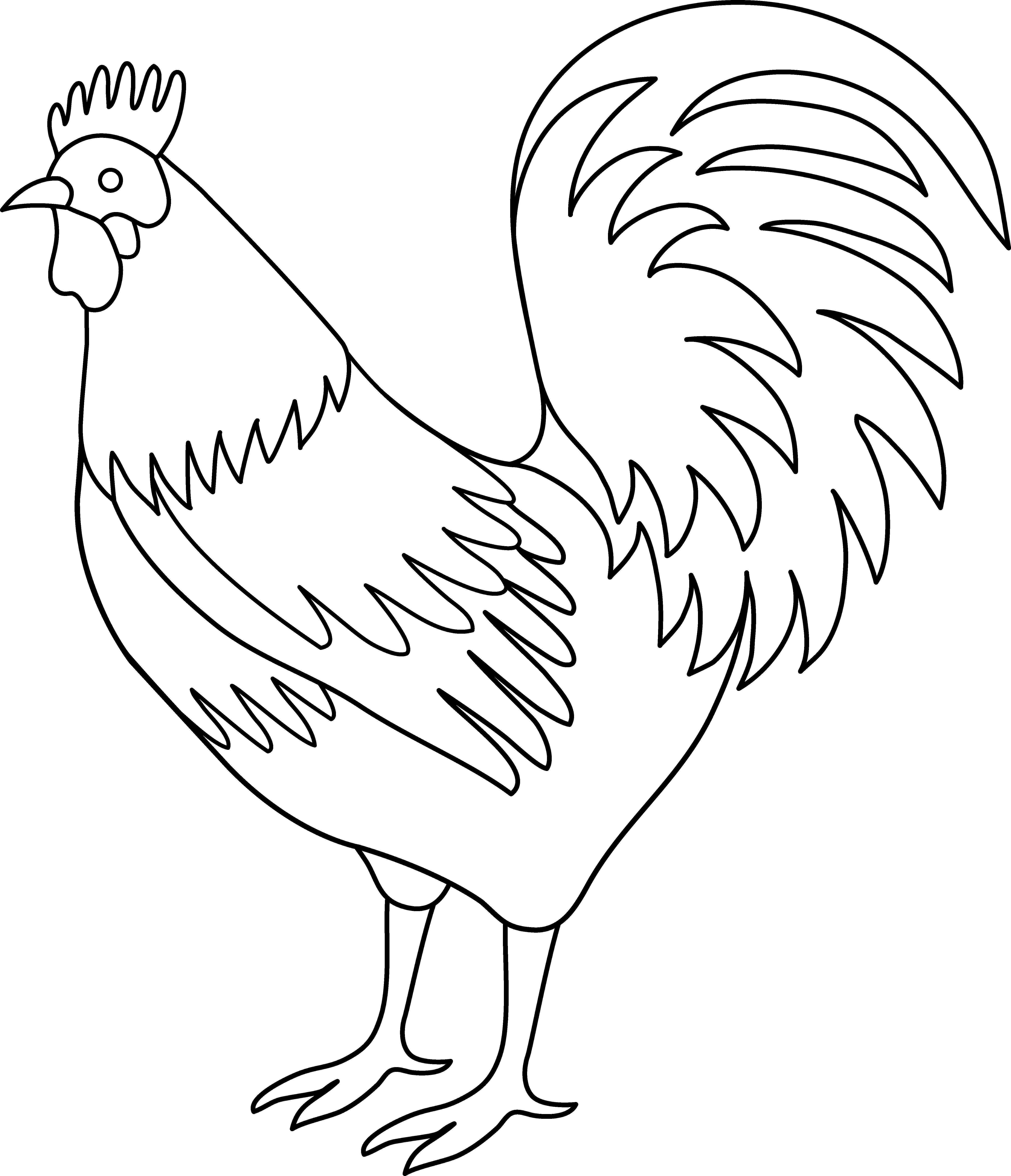clip art transparent download Best Photos of Rooster Outline Clip Art