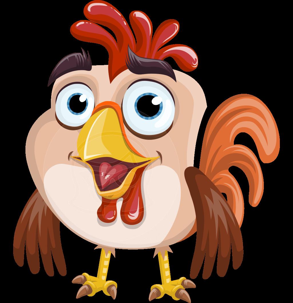 clip Vector cartoons bird. A perky rooster cartoon