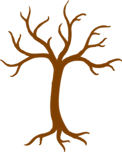 graphic black and white library Bare Tree With Roots Clip Art at Clker