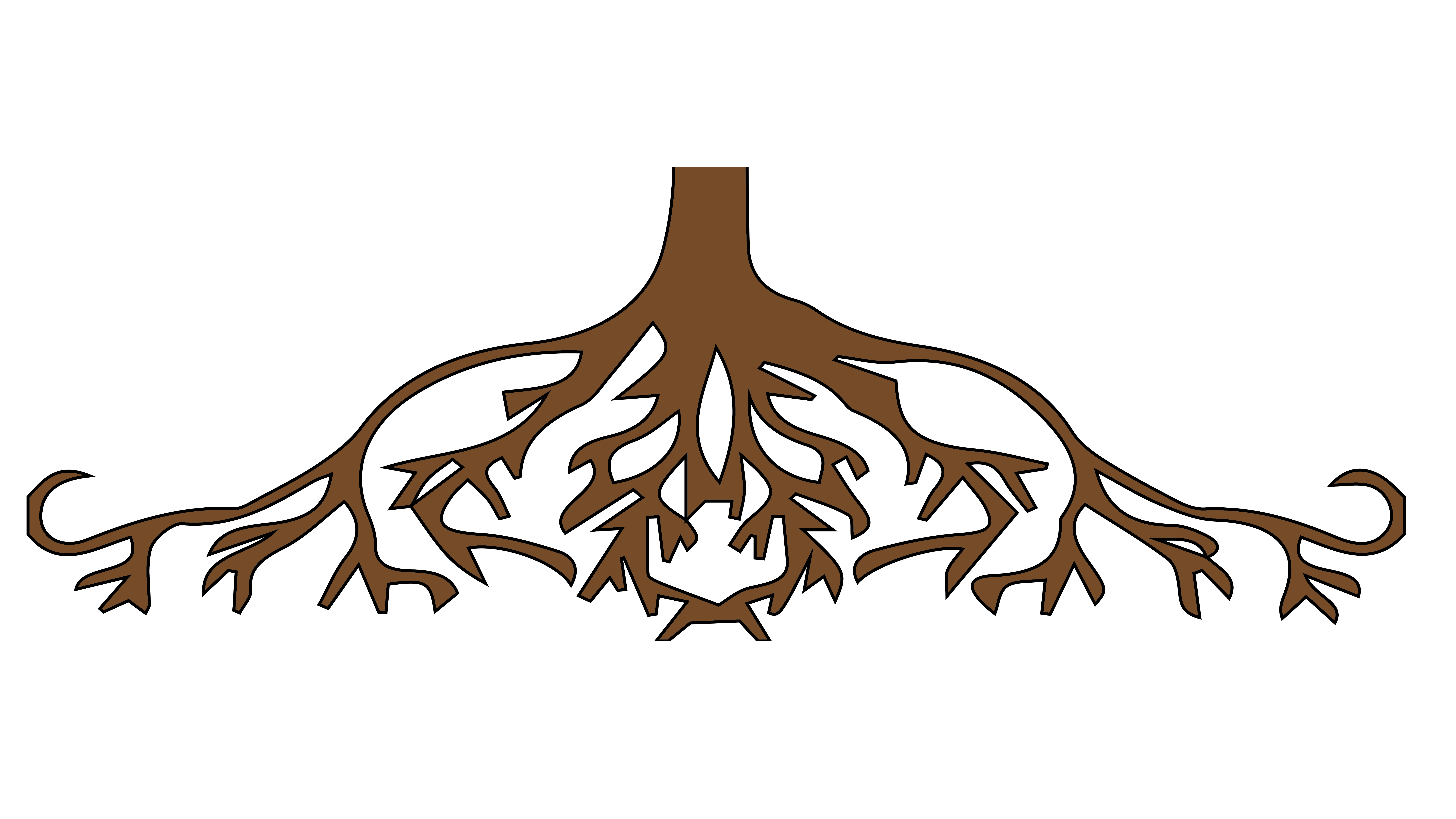 freeuse stock United states root tree. Roots clipart.