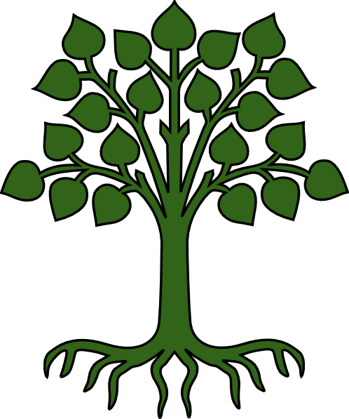 clipart royalty free stock Green tree with clip. Roots clipart.