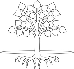 graphic black and white library Roots clipart. Tree clip art black.