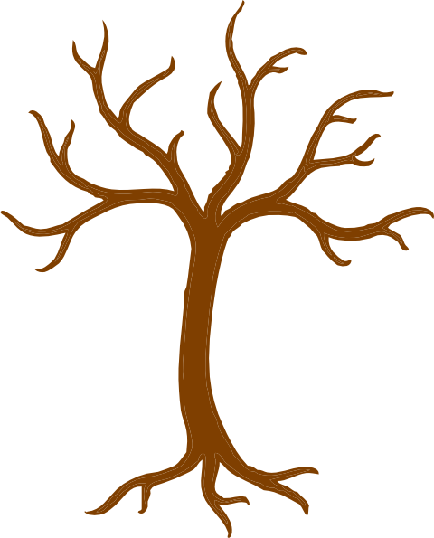 png library Bare Tree With Roots Clip Art at Clker