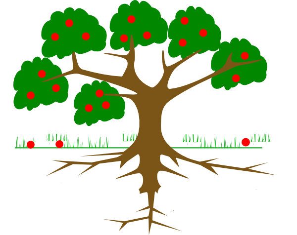 picture black and white stock Roots Clipart rooted tree