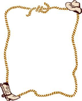 graphic free Free clipart western theme. Rope border clip art.