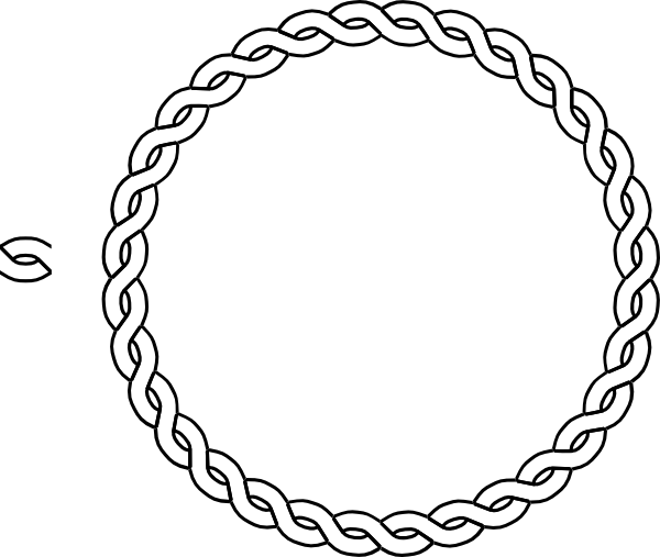 freeuse Drawing rope. Border circle clip art