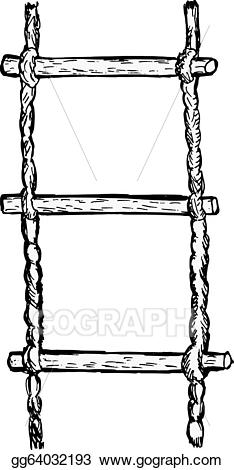 graphic download Vector art drawing gg. Rope ladder clipart.