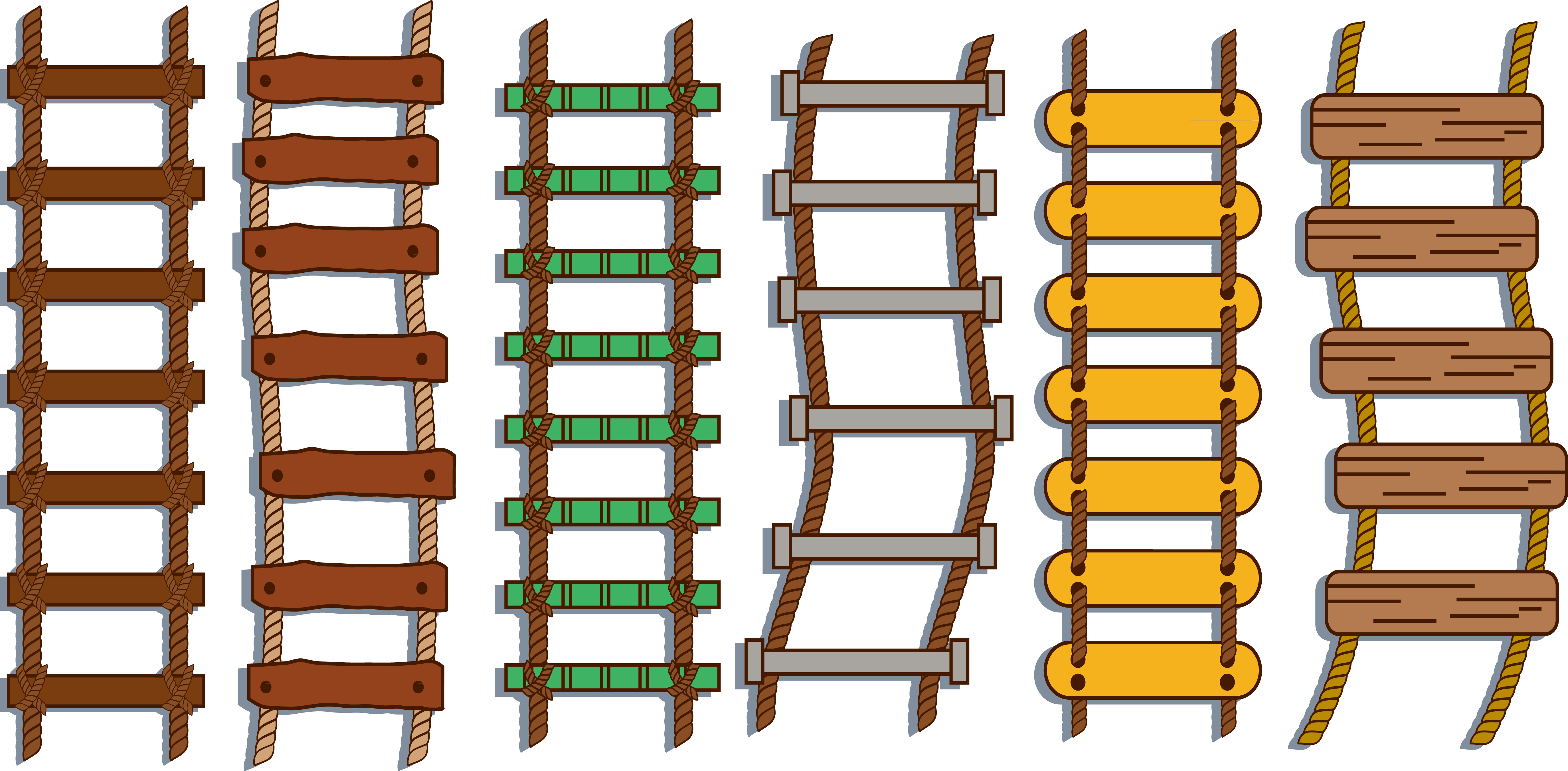 jpg transparent library Rope ladder clipart. Stairs repstege transprent png