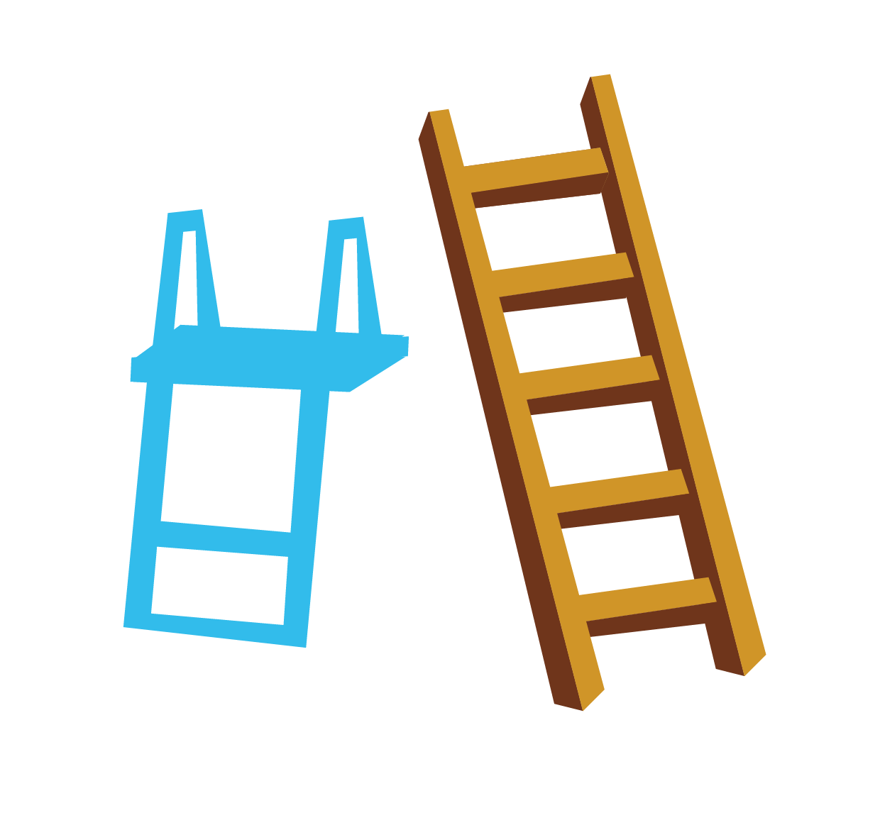 clip royalty free Rope ladder clipart. Stairs blue wooden ladders