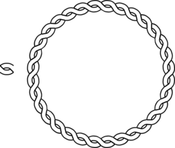 vector library stock Rope Border Circle Clipart