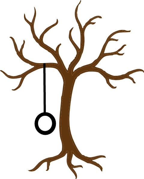 jpg free Bare Tree With Tire Swing Clip Art at Clker
