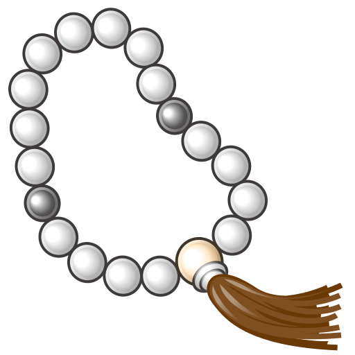 vector royalty free Prayer emoji for facebook. Rosary beads clipart.