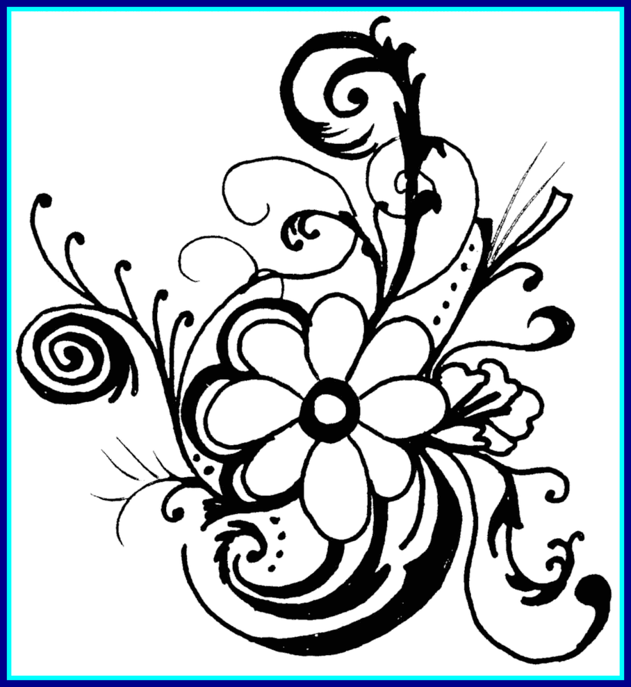 banner black and white download Unbelievable hawaiian flower clip. Borders clipart black and white