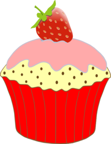 picture stock Purple Cupcakes Clipart